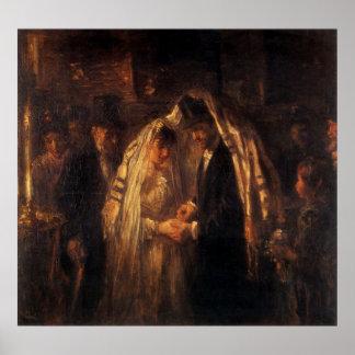 Un boda judío de José Israels - circa 1903 Póster