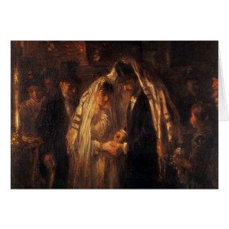Un boda judío de José Israels - circa 1903 Tarjeta De Felicitación