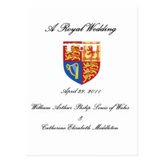 Un boda real tarjetas postales