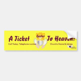 Un boleto al Cielo-Personalizar Pegatina Para Auto