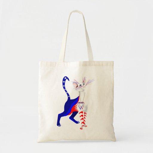 Un bolso americano del gato bolsa tela barata