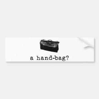 ¿Un bolso? Pegatina De Parachoque