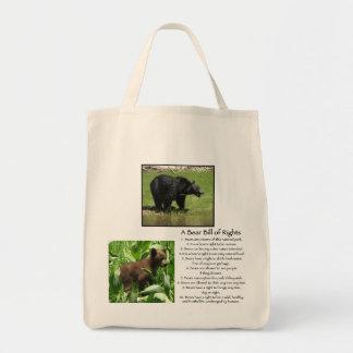 Un bolso de la Declaración de Derechos del oso