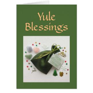 Un bolso de la tarjeta pagana del día de fiesta de
