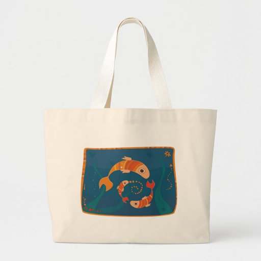 un bolso de los pescados bolsa de mano