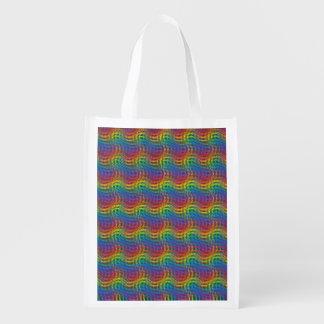 Un bolso de ultramarinos reutilizable del arco bolsa para la compra