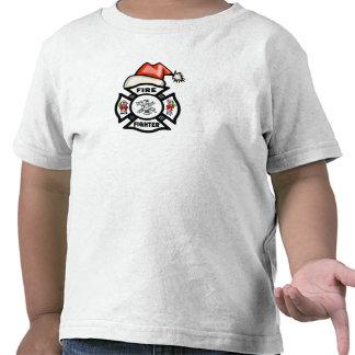 Un bombero Papá Noel Camisetas