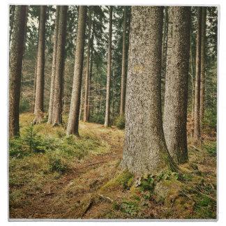 Un bosque servilleta imprimida