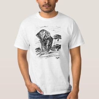 Un bosquejo de un elefante africano salvaje camisas