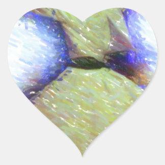 un bosquejo girante del sufi calcomanía corazón