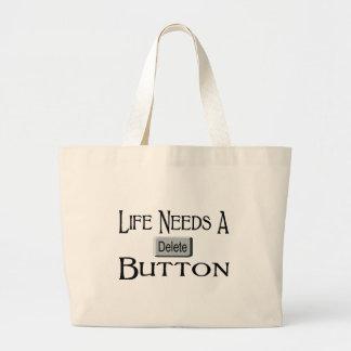 Un botón de la cancelación bolsas de mano
