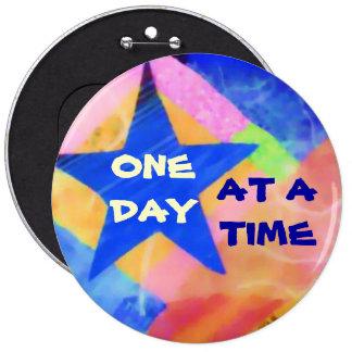 """Un botón de la """"estrella azul"""" del día a la vez pin redondo de 6 pulgadas"""