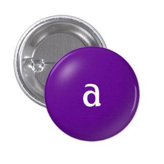 Un botón del monograma pins