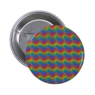 Un botón desigual del arco iris pin redondo de 2 pulgadas