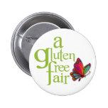 Un botón justo Gluten-Libre Pin Redondo De 2 Pulgadas