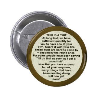 Un botón redondo del ~ de Tuit Pin Redondo De 2 Pulgadas