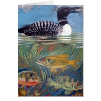 Un bribón en el estanque de peces tarjeta de felicitación