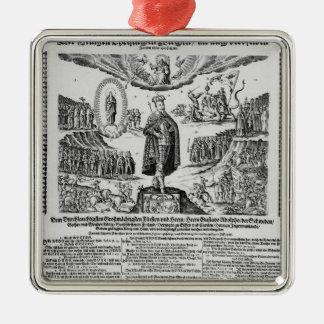 Un broadsheet alemán que representa al campeón de  ornamentos de reyes
