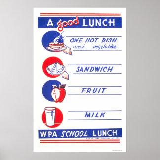 Un buen almuerzo come bien WPA 1941 Poster