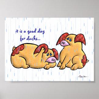 Un buen día para los patos (1 de 3) póster