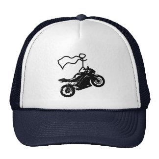 Un buen gorra del tiempo del wheelie. Por Moto