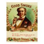 Un buen humo para el caballero sofisticado membretes personalizados