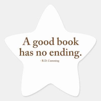 Un buen libro no tiene ninguna conclusión calcomanías forma de estrella personalizadas