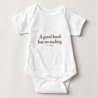 Un buen libro no tiene ninguna conclusión remera