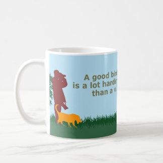 Un buen perro de caza es más duro de encontrar que taza básica blanca