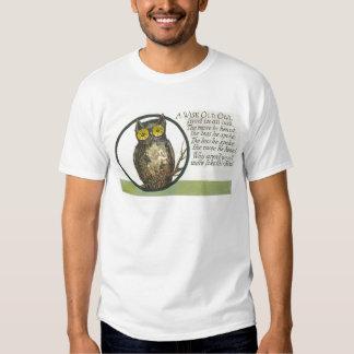 un búho viejo sabio camisas