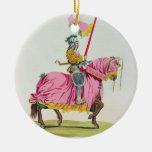 Un caballero armó para el enlace, 1512, grabado po adorno para reyes