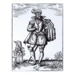Un caballero de Tudor Tarjeta Postal