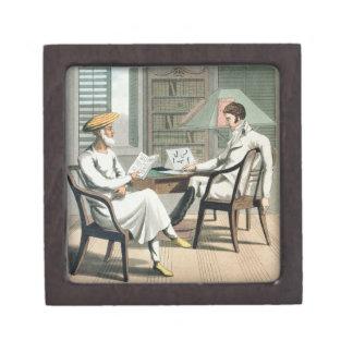 Un caballero europeo con su Moonshee, o natural Caja De Regalo De Calidad