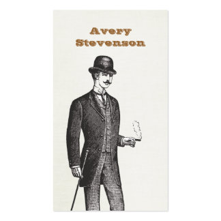 Un caballero verdadero en tarjeta de visita del
