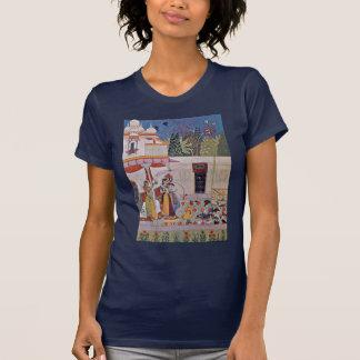 Un caballero y palomas de señora reloj por camisetas
