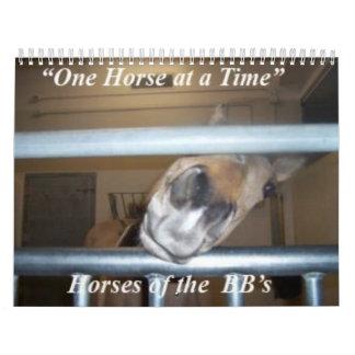 Un caballo a la vez hace calendarios