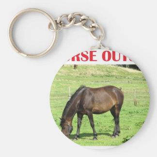 Un caballo afuera llaveros