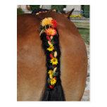 Un caballo de Ardenas con la cola trenzada Tarjetas Postales