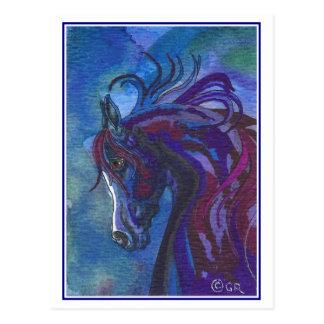 Un caballo de diversa postal de los colores
