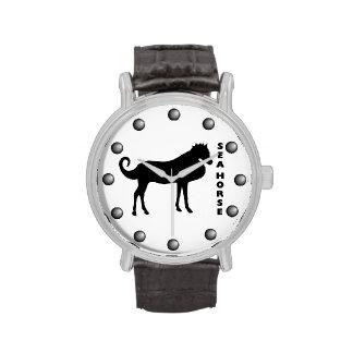 Un caballo de mar de la vida real relojes de mano