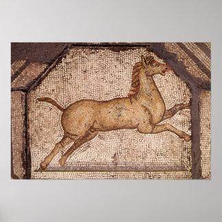 Un caballo, detalle de Orfeo que encanta los anima Póster