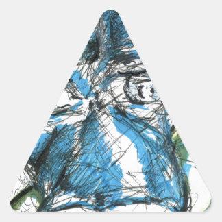 Un caballo llamó a Blue Pegatina Triangular