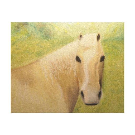 Un caballo que sabía lienzo envuelto para galerias