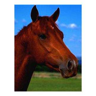 Un caballo que se coloca orgulloso membrete