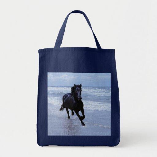 Un caballo salvaje y libre bolsa tela para la compra