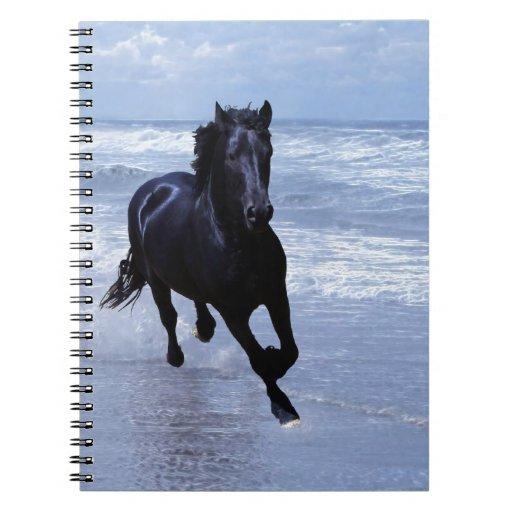 Un caballo salvaje y libre libros de apuntes con espiral