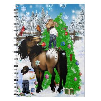 Un caballo y navidad del niño libreta espiral