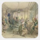 Un café, Constantinopla, 1854 (pluma y tinta y Colcomanias Cuadradases