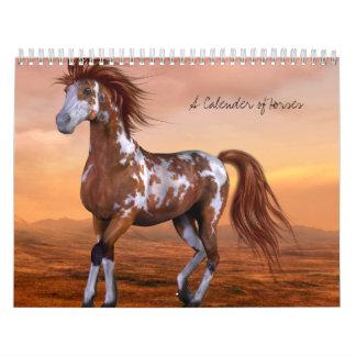 Un calendario de caballos