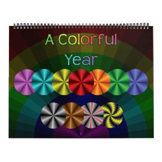 Un calendario de doce meses del año colorido